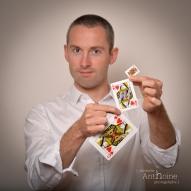 Portrait studio photo portrait magicien saint brieuc photographe Christelle Anthoine bretagne côtes d'amor