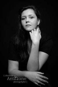 Séance studio photo noir et blanc suite à un bon cadeau