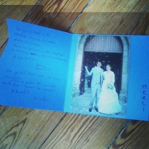 Remerciements mariage 2014 à Lannion Christelle Anthoine photographe Saint Brieuc