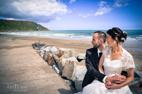 Mariage plage Tournemine pointe de pordic photographe pordic saint brieuc Christelle Anthoine