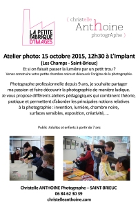 Atelier photo l'implant festival Banc publicchambre noire photographe Saint Brieuc Christelle Anthoine