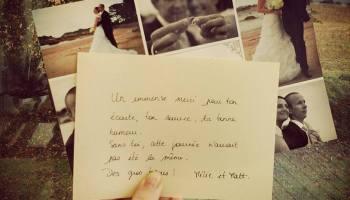un magnifique cadeau remerciements mariage - Photographe Mariage Saint Brieuc