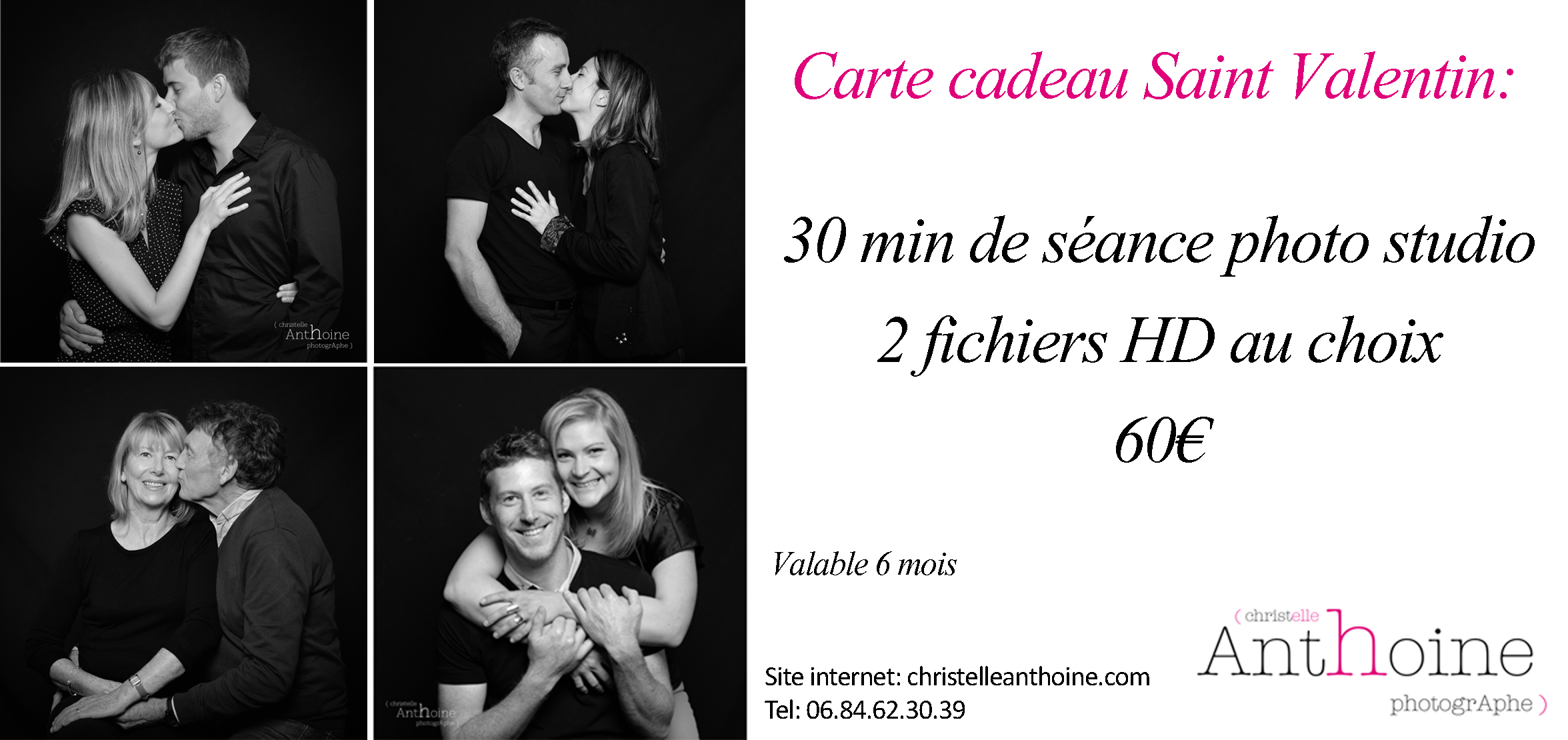 Carte cadeau séance photo saint valentin photographe Bretagne