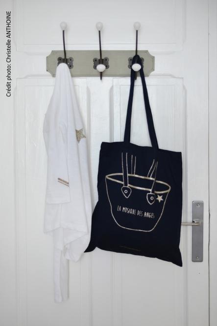 Photographe textile Bretagne Saint Brieuc vêtement tot bag La Musique des Anges