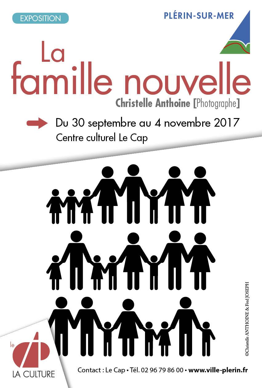Affiche exposition La famille nouvelle Christelle ANTHOINE