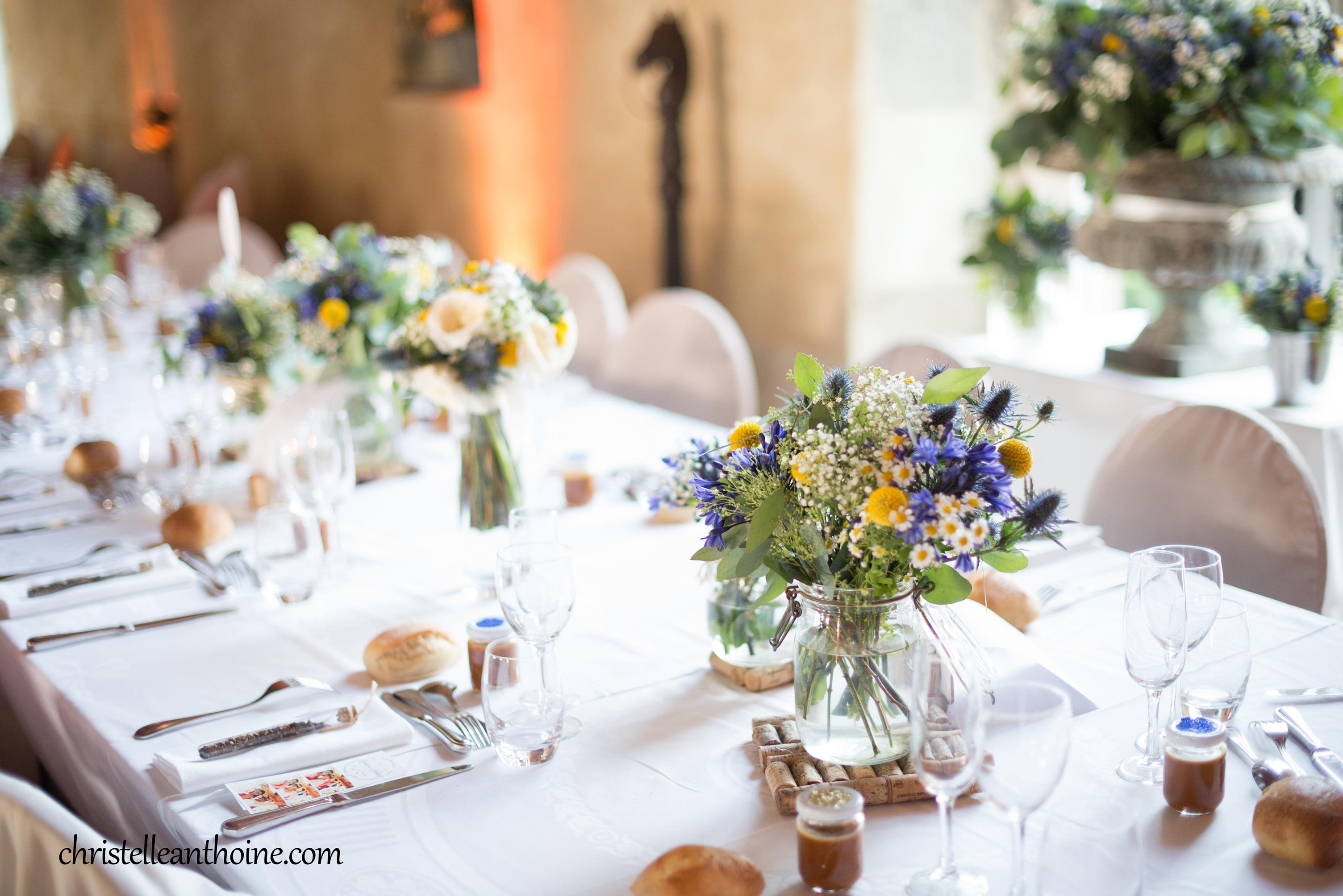 Photographe bretagne famille couple mariage cotes darmor décoration table manoir de Pontbriand Pleurtuit